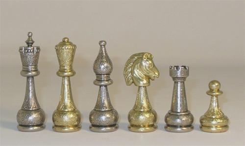 Treviso Robust Chess Set- Metal, Staunton