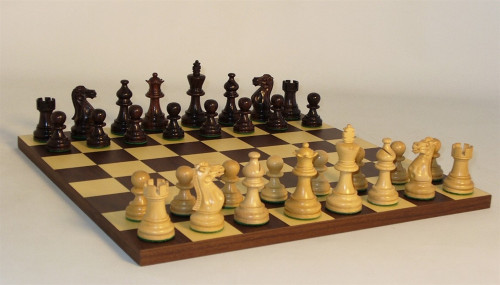 Empire Rosewood Chess Set - Chess Pieces and Matching Chess Board