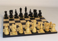 Boxwood Chess Set - Chess Pieces and Matching Chess Board