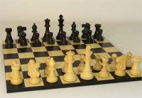 Noir Elegant Chess Set - Chess Pieces and Matching Chess Board WW-D-S-37BF-BBC