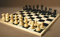 Noir Elegant Chess Set - Chess Pieces and Matching Chess Board WW-D-S-37BF-BS