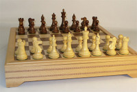 Refine Chess Set - Chess Pieces and Matching Chess Board