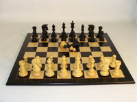 Parthenon Ebony Chess Set - Chess Pieces and Matching Chess Board