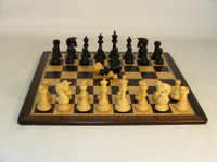 Parthenon Ebony Chess Set - Chess Pieces and Matching Chess Board WW-D-S-42EPRDQ-EBM