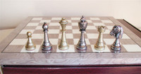 Treviso Refinement Chess Set - Chess Pieces and Matching Chess Board WW-D-S-70M-GY