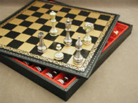 Treviso Refinement Chess Set - Chess Pieces and Matching Chess Board Chest WW-D-S-82M-221GN