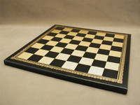 Chess Board Pressed Leather on Wood 1.25""