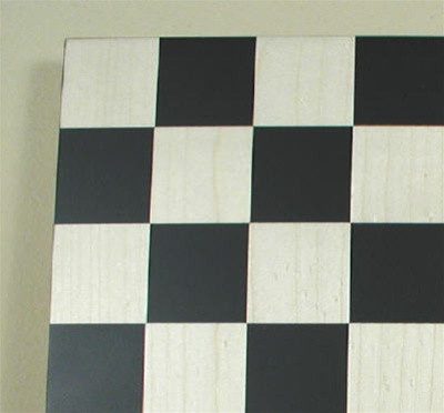 "Black and Maple Chess Board 1.75"" squares"