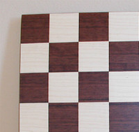 "Dark Rosewood and Maple Chess Board 1.75"" squares"