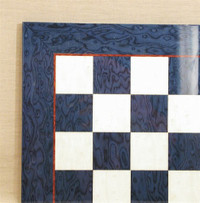"Blue Briar and Ivory Glossy Chess Board, 1.75"" squares"