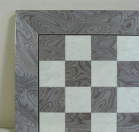 "Grey Briar and Ivory Glossy Chess Board, 1.5"" Squares ww1-45440GY"