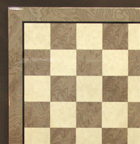 "Grey Briar and Ivory Chess Board, 2"" Squares"