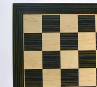 "Ebony and Maple Chess Board, 2.2"" squares"