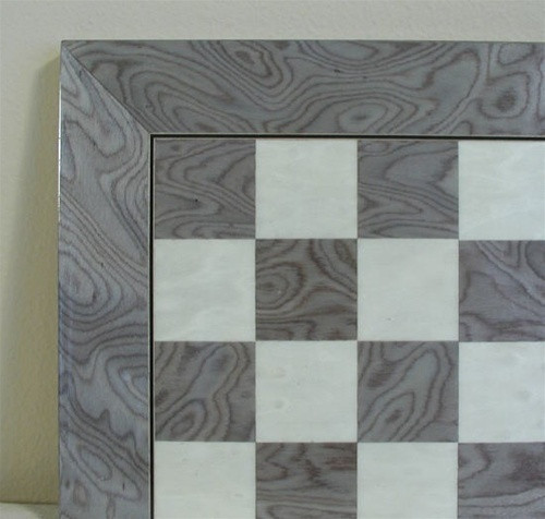 """Grey Briar and Ivory Glossy Chess Board, 2 3/8"""" squares"""