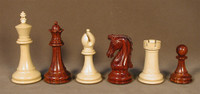 Chetak Bud Rosewood and Boxwood Wood Chess Pieces 4.25""