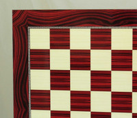 Red Grain Decoupage Chess Board