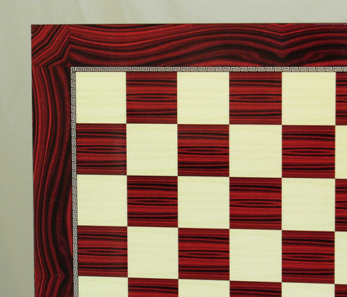 Red Grain Decoupage Chess Board