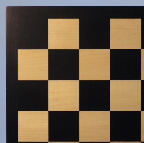 """Black & Maple Chess Board - 17.25"""""""