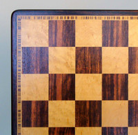 Ebony & Birdseye Maple Chess Board - 17""