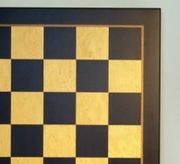Black & Madrona Burl Chess Board - 23.5""
