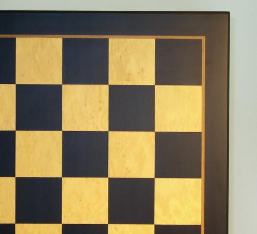 "Black & Madrona Burl Chess Board - 23.5"""