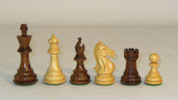 "The Pro - Golden Rosewood and Boxwood Chess Pieces - 3.75"" King"