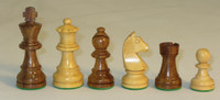 "The German Knight - Golden Rosewood and Boxwood Chess Pieces - 3"" King"