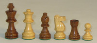 "The French Knight -Golden Rosewood and Natural Boxwood Chess Pieces - 3"" King"