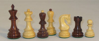 "The Zagreb - Rosewood and Natural Boxwood Chess Pieces - 3.75"" King"