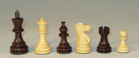 "The Classic - Rosewood and Natural Boxwood Chess Pieces - 4"" King"