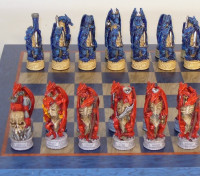 Dragon's Lair Chess Set - Chessmen and Chess Board