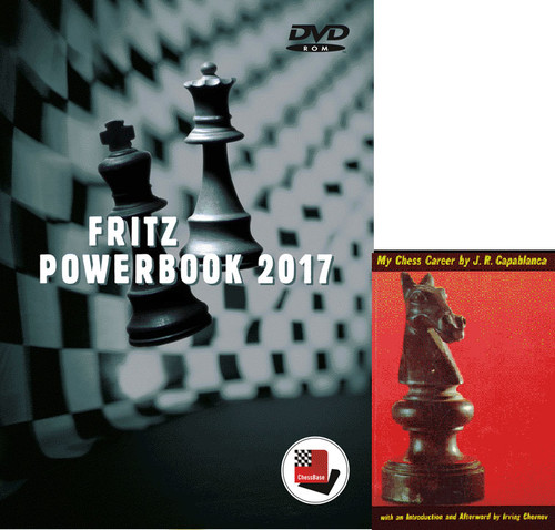 """Fritz PowerBook 2017 Chess Database Software on DVD and Capablanca's """"My Chess Career"""" E-Book"""