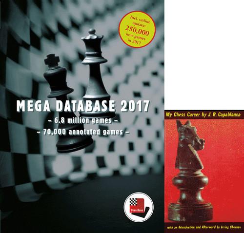 """Mega Database 2017 Chess Database Software & Capablanca's """"My Chess Career"""" E-Book"""