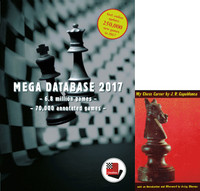 "UPGRADE Mega Database from ANY YEAR to 2017 Chess Database Software & Capablanca's ""My Chess Career"" E-Book"