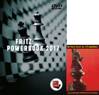 "UPGRADE  Fritz PowerBook 2017 Chess Database Software on DVD and Capablanca's ""My Chess Career"" E-Book"