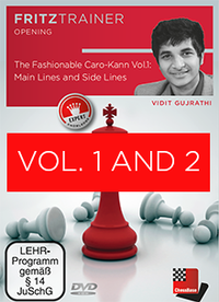 The Fashionable Caro-Kann Vol. 1 and 2 - Chess Opening Training Software DVDs