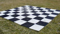 "Garden Nylon Chess Chess Board Mat with 12"" Squares"