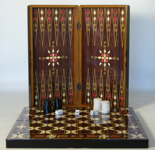 Pistachio Cluster Decoupage Backgammon Set