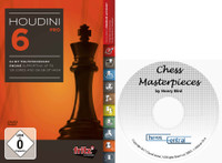 "Houdini 6 Pro - Chess Playing Software on DVD and ChessCentral's ""Chess Masterpieces"""