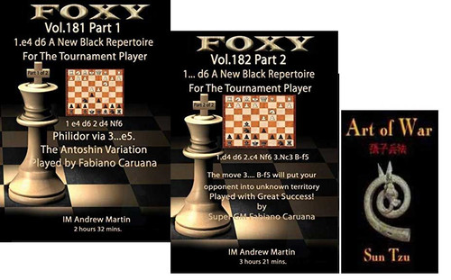 "Foxy Chess Videos, 181-182: A New Black Repertoire with 1…d6 plus ""Art of War"" CD"