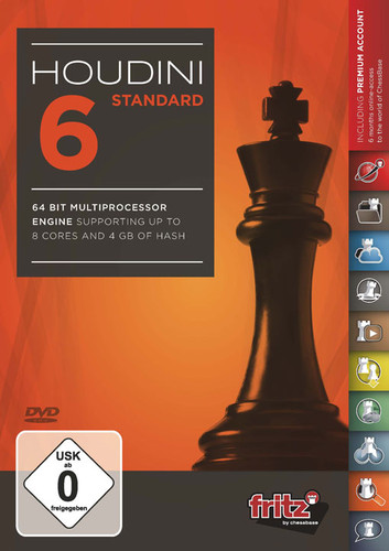 "Houdini 6 Standard Chess Playing Software on DVD and ChessCentral's ""Chess Masterpieces """