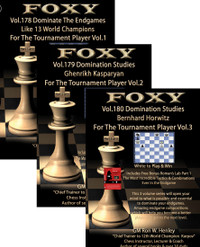 "Foxy Chess Videos, 178-180:  Domination Studies for The Tournament Player (by GM Ron W. Henley) 3 Volume DVD Set plus ChessCentral's ""Art of War"" on CD"