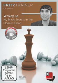 My Black Secrets in the Modern Italian: Wesley So - Chess Opening PC DVD