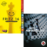 Fritz 16 Chess Playing Software Program With Fritz PowerBook 2018 - Chess Database Software (PC-DVD)