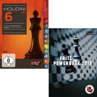 Houdini 6 Pro - Chess Playing Software with Fritz PowerBook 2018 - Chess Database Software (PC-DVD)