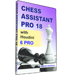 Chess Assistant 18 Pro with Houdini 6 Pro - Database Management Software Program for Download