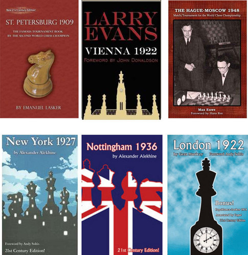 Classic Chess Tournament Books- Any 2 for $16.95 FREE USA Shipping! (2torn-books)