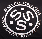 SK Gear - Smith Knives T-Shirt - White on Black - SK9999-TSB
