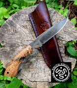 "Lacy Smith -  ""Cherokee"" Damascus Skinner - SK1705363-FLS"