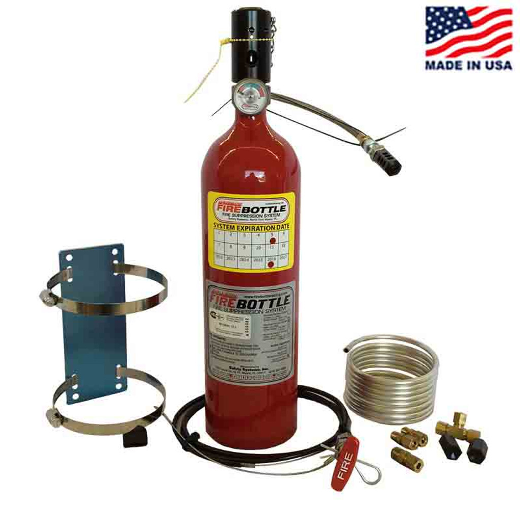 Fire bottle amrc automatic or manual suppression